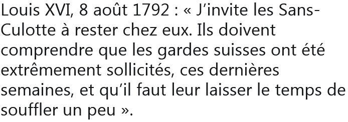 Louis XVI 1792 - TWEET