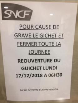 Pour cause de grave - SNCF