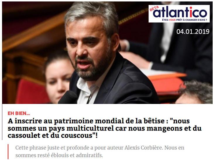 Corbière selon Atlantico 04.01.2019