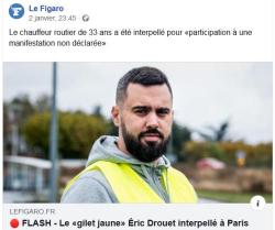 Eric Drouet arrêté
