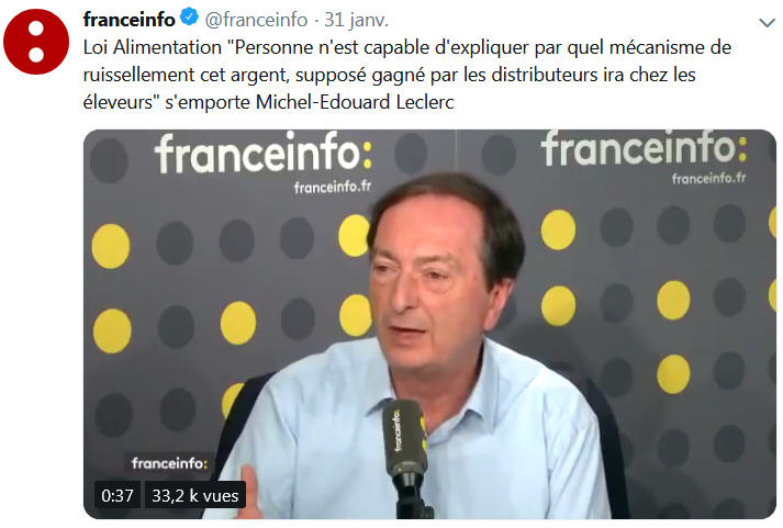 Michel-Edouard Leclerc - Loi Alimentation