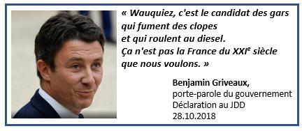 Griveaux clopes diesel - 28.10.2018