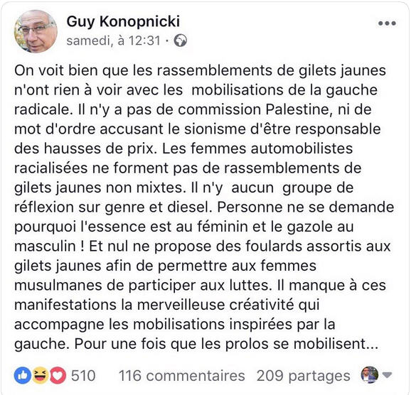 Guy Konopnicki TWEET