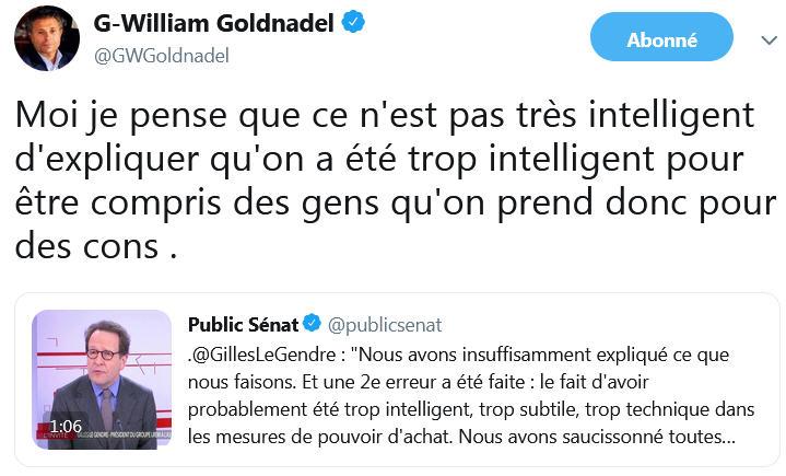 Gilles Le Gendre - Public Sénat - TWEET