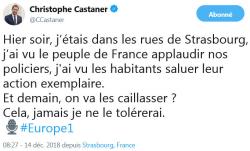 Castaner Strasbourg TWEET