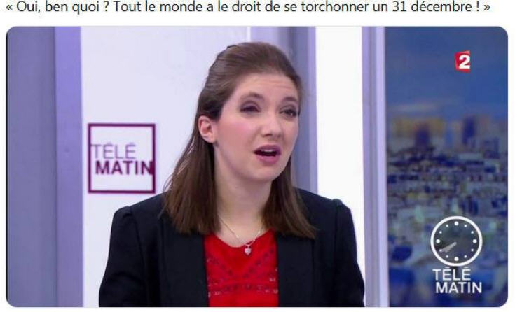 Aurore Bergé se torchonner un 31 décembre
