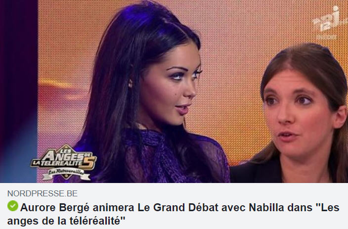 Nabilla - Aurore Bergé - grand débat
