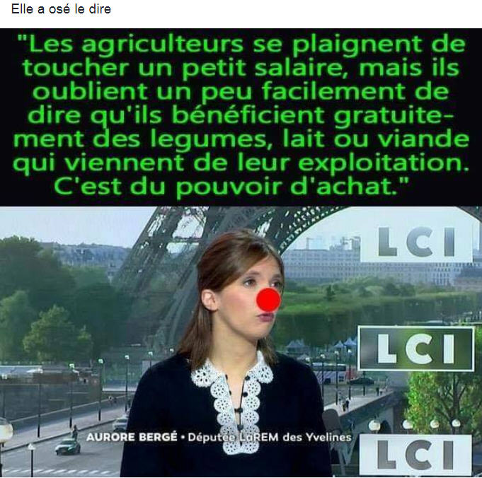 Aurore Bergé - Les agriculteurs