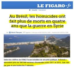 Stats homicides au Brésil