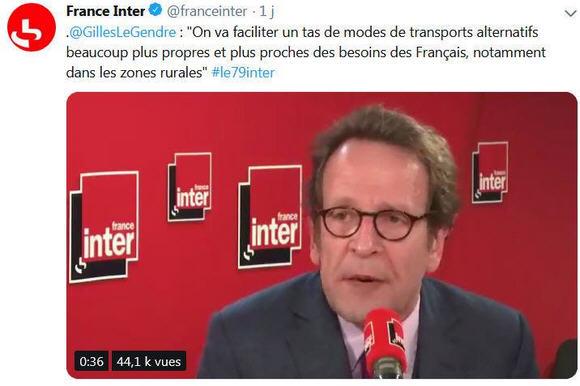 Gilles Le Gendre sur France Inter
