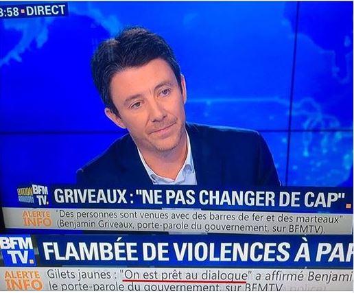 Griveaux sur BFMTV le 02.12.2018