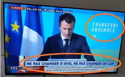 Macron ne pas changer de cap