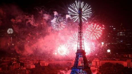 Tour Eiffel feu d'artifice