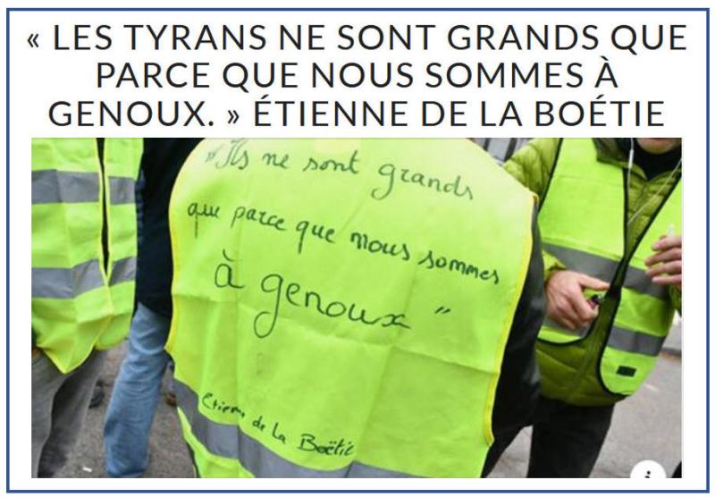 Gilets Jaunes - La Boétie - encadré