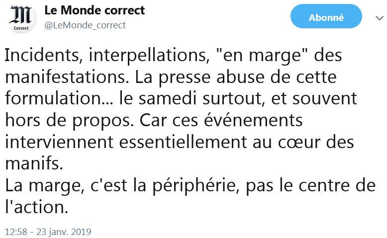 En marge - Le Monde - TWEET
