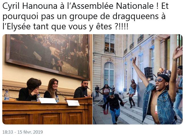 Hanouna à l'Assemblée