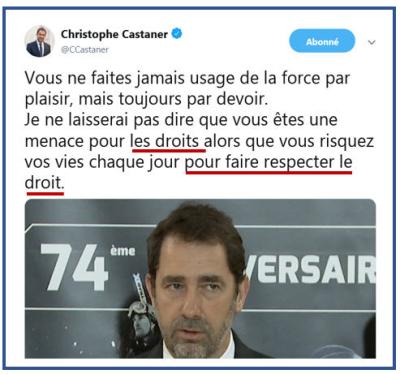 Castaner - Faire respecter le droit