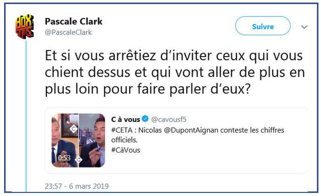 Pascale Clark TWEET c à vous-2