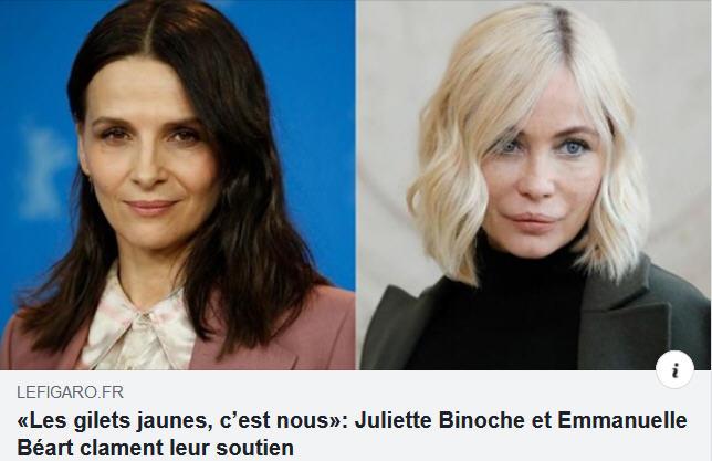 Juliette Binoche et Emmanuelle Béart