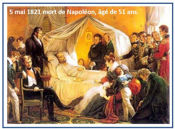 5 mai 1821 mort de Napoléon