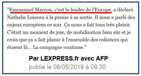 Nathalie Loiseau Macron leader de l'Europe