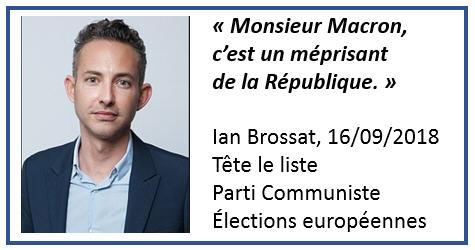 Ian Brossat -Macron méprisant
