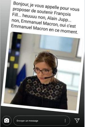 Aurore Bergé fait du phoning