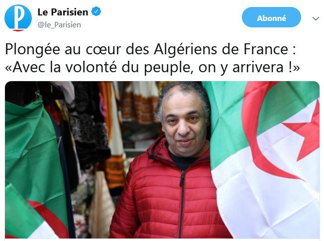 Le Parisien - les Algériens de France