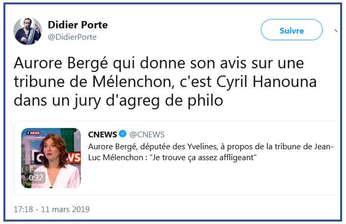 Didier Porte sur Aurore Bergé