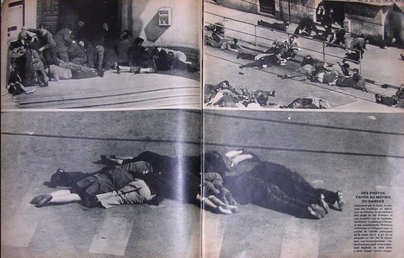 Fusillade rue d'Isly Alger 26.03.1962 - Paris Match