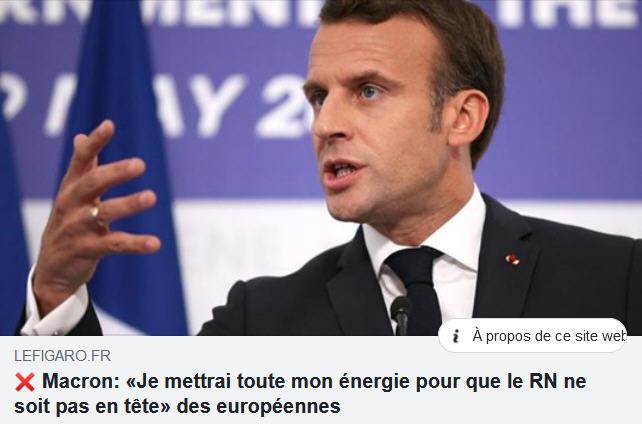 Macron - battre le RN