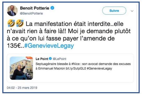 Tweet député Benoît Potterie
