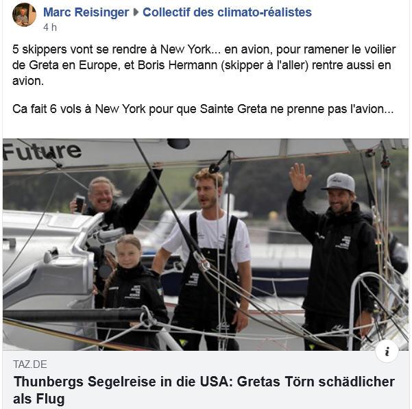 Les skippers de Greta