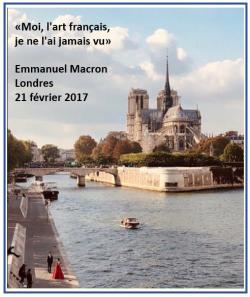 Macron l'art français