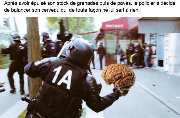 Policier lanceur de cerveau