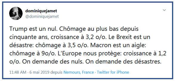 Dominique Jamet TWEET 06.05.2019