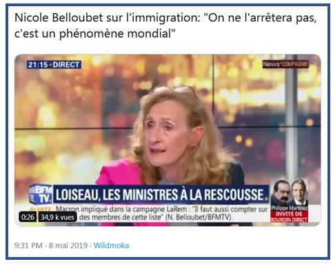 Belloubet sur l'immigration