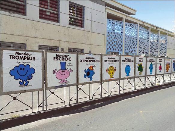 Panneaux électoraux MONSIEUR