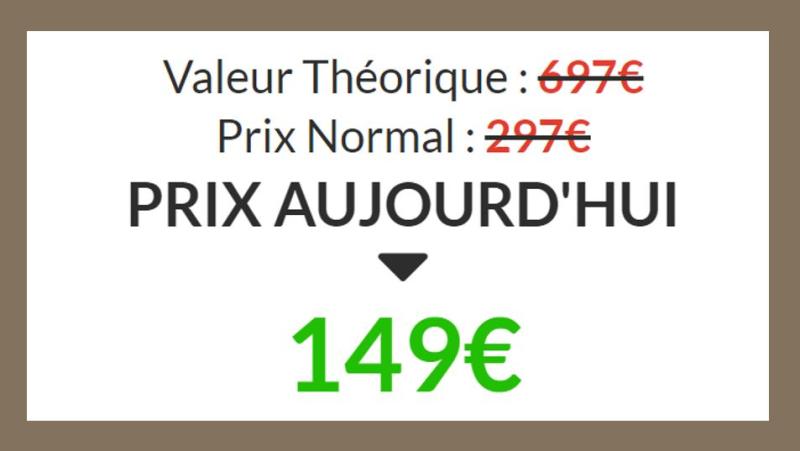Valeur théorique - Prix normal - Prix aujourd'hui
