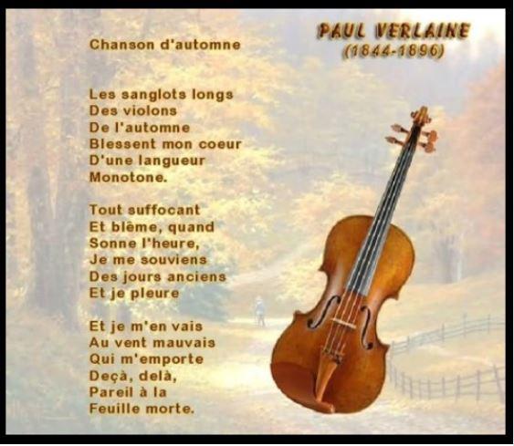 Verlaine - chanson d'automne