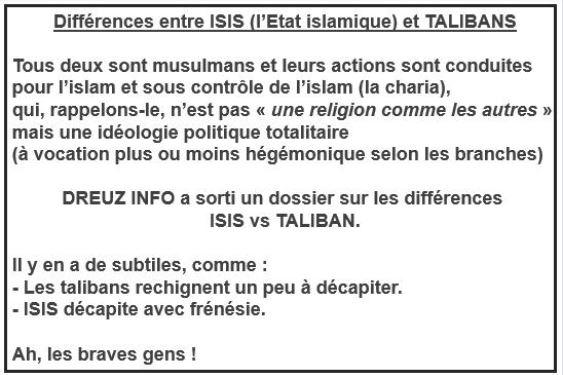 ISIS vs talibans