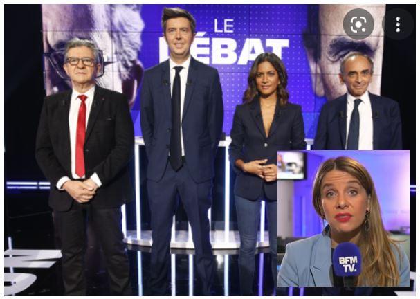 BFM-TV-Débat Mélenchon-Zemmour